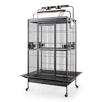 Classico Medium Iron Bird Cage w Playtops & Castors