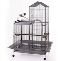 Large Iron Parrot Bird Cage with Playtops & Castors