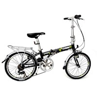 Trinx Shimano 7 Speed Folding Bike in Black 20inch