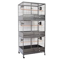 Triple Deck Bird Cage w/ Removable Panels & Castors