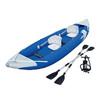 Bestway Double Kayak Boat Raft w/ Pump & Oars Blue