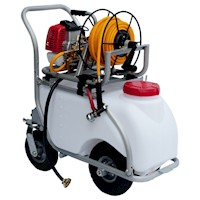 Petrol Powered Weed Sprayer w Aluminium Trolley 50L