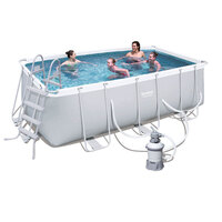 Bestway Rectangular Above Ground Pool w Sand Filter