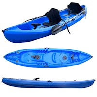 3 Person Sit On Top Kayak Boat Raft in Blue 390cm