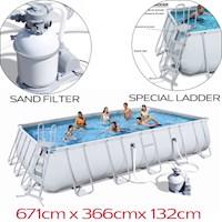Bestway Above Ground Pool w/ Sand Filter 671x366cm