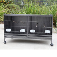 Stackable Vertical Bird Cage w Centre Divider 106cm
