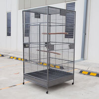 Extra Large Flight Bird Cage Aviary w Castors 205cm