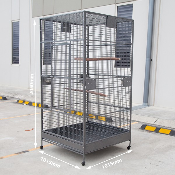 Extra large flight bird cage aviary w castors 205cm buy for Walk in vault for sale