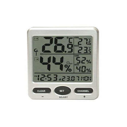 Wireless Weather Station 8-Channel Thermometer Hygrometer 8 Remote Sensors