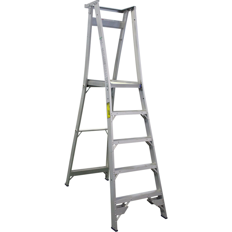 Indalex 5 Step Aluminium Platform Ladder W Wheels Buy