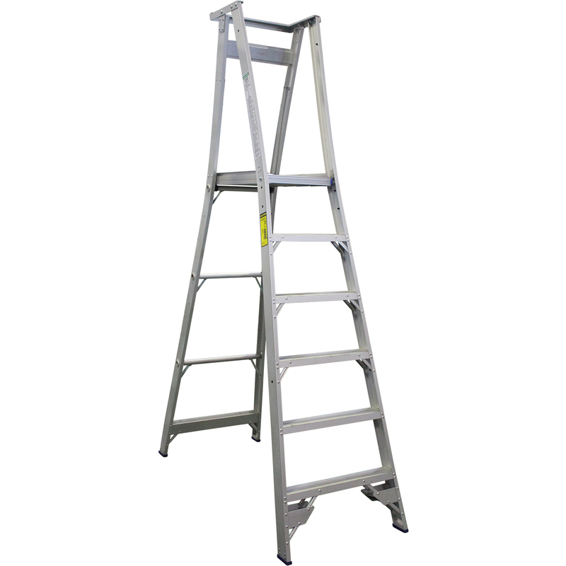 Indalex 6 Step Aluminium Platform Ladder W Wheels Buy
