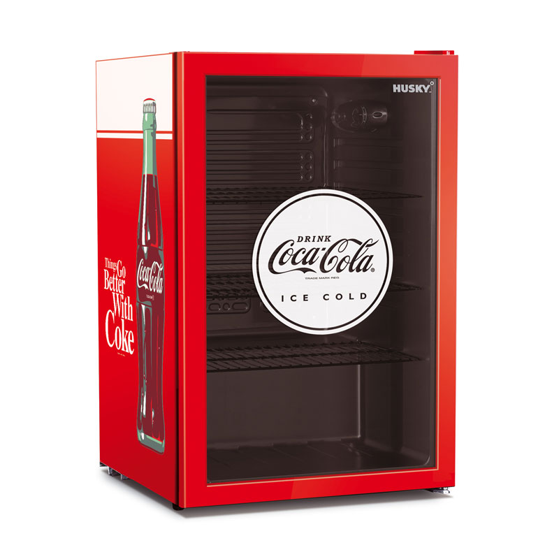 110l Coca Cola Glass Door Bar Fridge By Husky Buy Bar Fridges