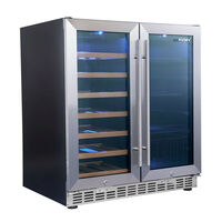 Husky Dual Zone 2 Door Stainless Steel Wine Fridge