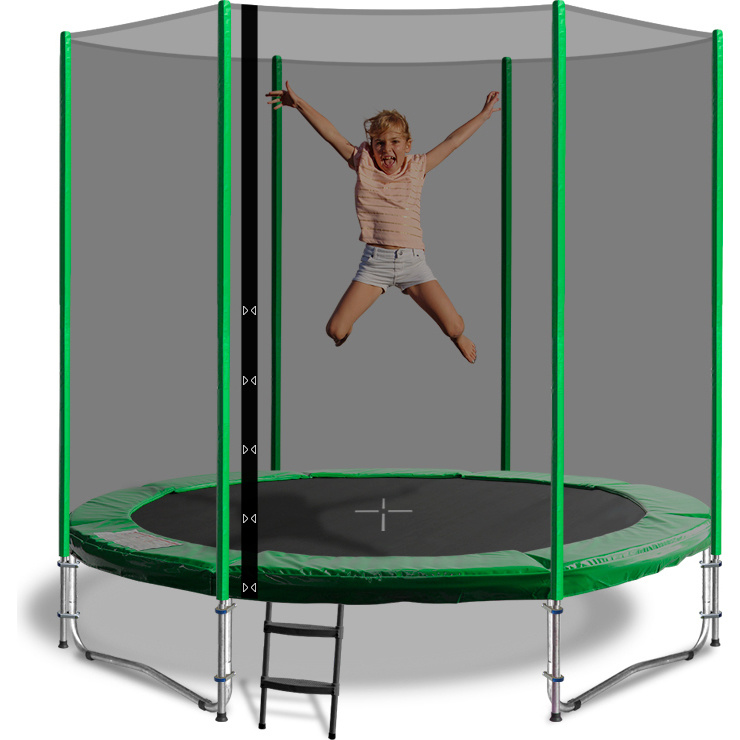 6 Pole 6Ft Trampoline Safety Net In 3 Colours