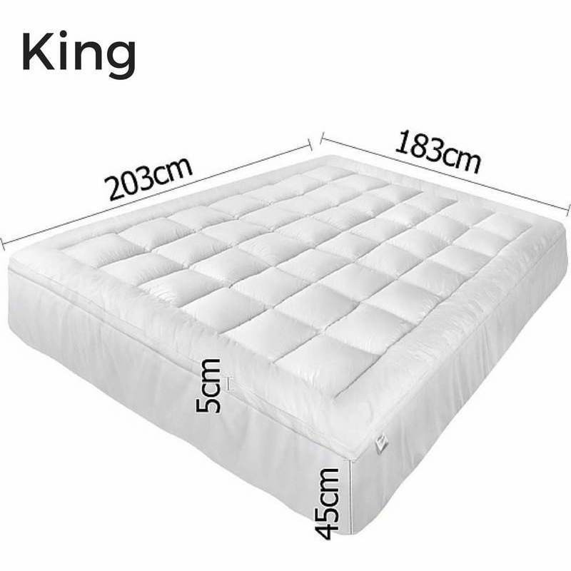 King Size Pillow Top Mattress Topper Protector Buy King Size Mattress Toppers