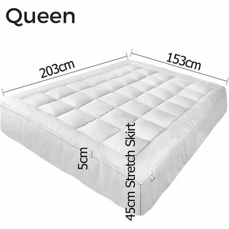 Queen Size Pillow Top Mattress Topper Protector Buy Queen Mattress Toppers
