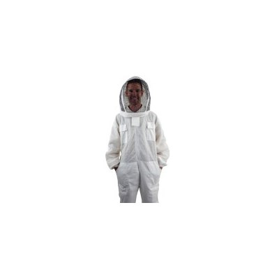 Full Body Ventilated Fabric Mesh Bee Suit - Small