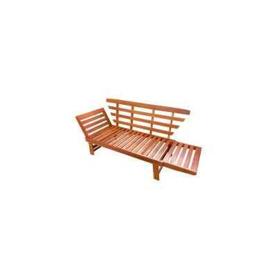 Timberlake Wooden 2 Seater Outdoor Bench Sun Lounge