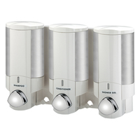 Aviva Triple Soap Dispenser w/ Chrome Button White
