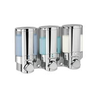 Aviva Triple Luxury Liquid Soap Dispenser Chrome