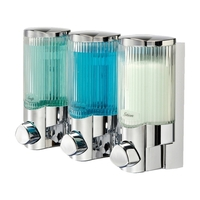 Signature Triple Shower Soap Dispenser in Chrome
