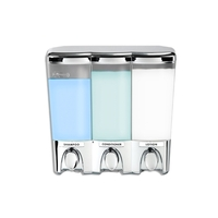 Clear Choice Triple Luxury Soap Dispenser in Chrome