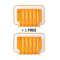 Trickle Tray for Bathroom Sponges & Soaps in Orange