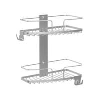 FineLine 2 Tier Shower Soap Basket Stainless Steel