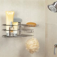 STORit Combo Shower Soap Basket in Stainless Steel