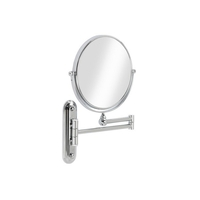 Valet Wall Mounted Mirror - Chrome Plated Steel 8in