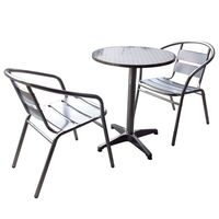Commercial Aluminium Cafe Bar Table And Chairs Set