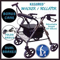 Foldable Rollator Walking Frame Mobility Walker