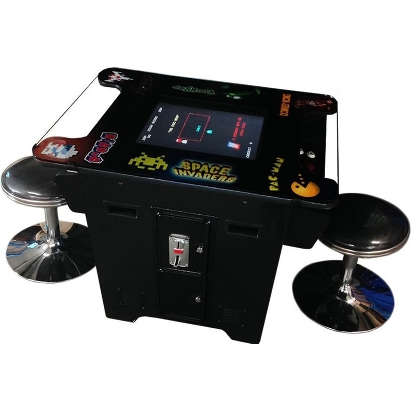 Tabletop Cocktail 412 Game Arcade Machine w/ Stools | Buy ...