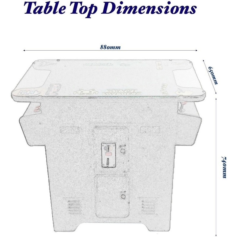 Tabletop Cocktail 412 Game Arcade Machine W Stools Buy
