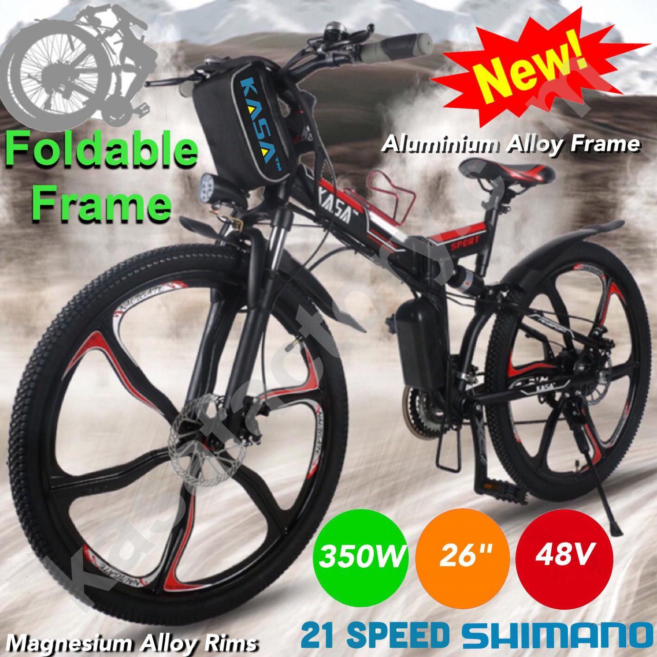 FOLDABLE 350W ELECTRIC MOUNTAIN BIKE 48V EBIKE SCOOTER CITY BICYLCLE  LITHIUM ION