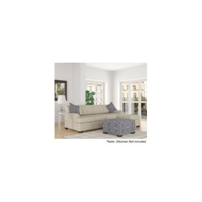 2pc Bahama Sofa Lounge w/ Right Chaise in Straw