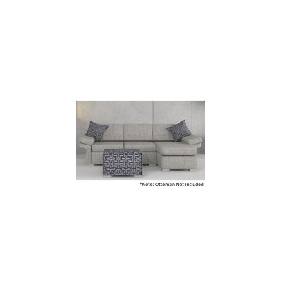 Wembley Linen Sofa Lounge with Right Chaise in Grey