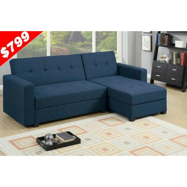 sofa bed fabric lounge sorrento sofa bed plus storage navy blue buy sofa beds 353526. Black Bedroom Furniture Sets. Home Design Ideas