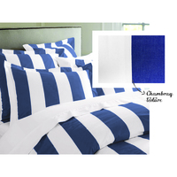 Oxford Cotton Striped Quilt Cover Sets in 4 Sizes