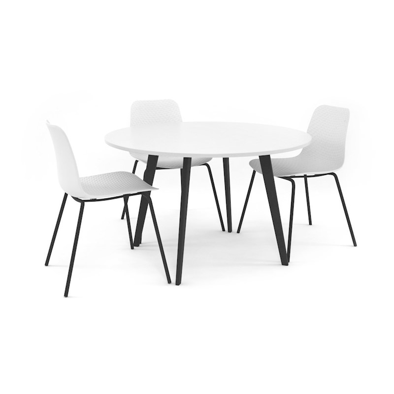 Remarkable Resetto Round Table Black Legs 1200Mm Download Free Architecture Designs Itiscsunscenecom