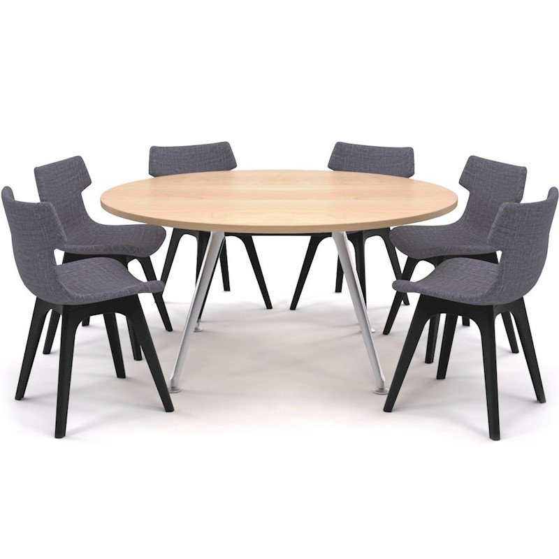 Remarkable San Fran Large Round Meeting Table Chrome Legs 1500D Download Free Architecture Designs Viewormadebymaigaardcom