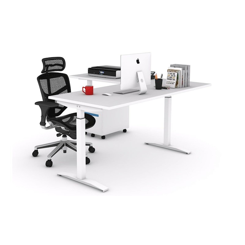 Stand Up Electric L Shaped Standing Desk Left Or Right Side Return