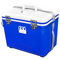 Techni Ice Compact Cooler Box in Blue and White 18L