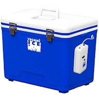 Techni Ice Bait Box w Aerator Pump in Blue 43cm 28L