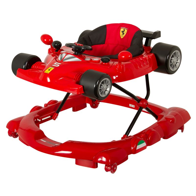 Ferrari Inspired Baby Walker W Activity Play Centre In Red