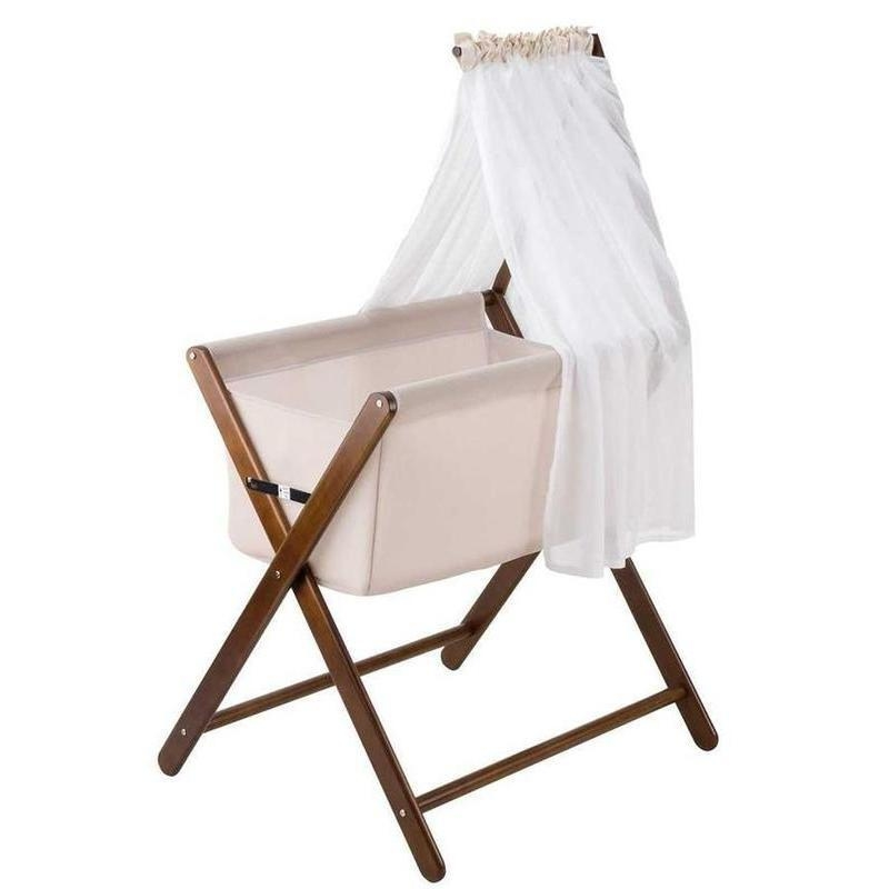 foldable baby bassinet w canopy mattress walnut buy bassinets