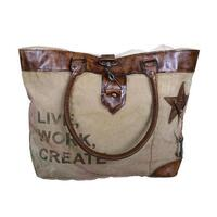 Live Work Create Hand Made Vintage Shoulder Bag
