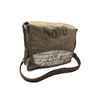 No 6 Hand Made Vintage Shoulder Bag with Leather
