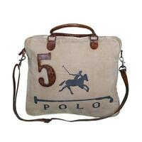 Polo Number 5 Vintage Hand Bag with Leather Handles