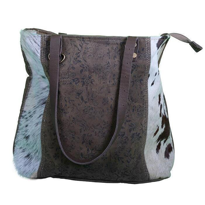 h m s Remaining. FLOWERY LEATHER COWHIDE BAG f4d52cf9d81fb